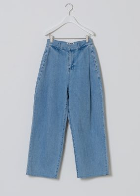 AMOMENTO  Denim TUCKED PANTS