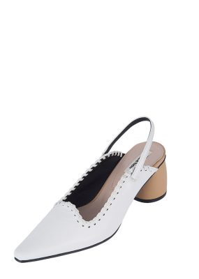 REIKE NEN Curved Middle Slingback – White