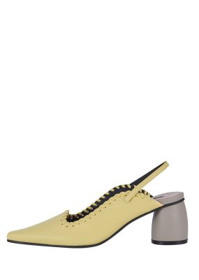 REIKE NEN Curved Middle Slingback – Yellow