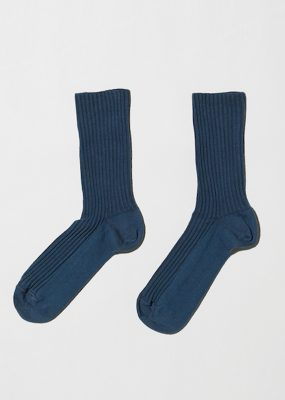 Rib Ankle Socks – Cotton Rib