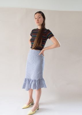 Among Unbalanced frill skirt