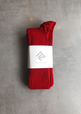 Overknee Socks – Cotton Rib/ red