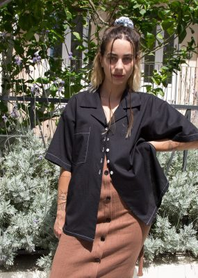 Open Plan oversized shirt – Black