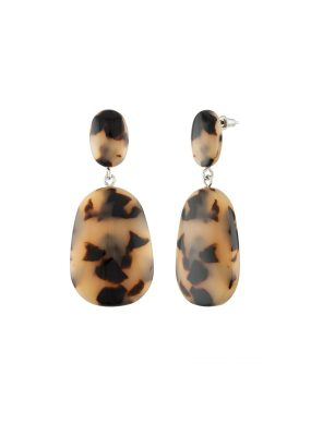 Machete Grande Drop Earrings in Blonde Tortoise