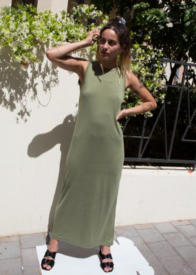 Open Plan Maxi dress – Olive