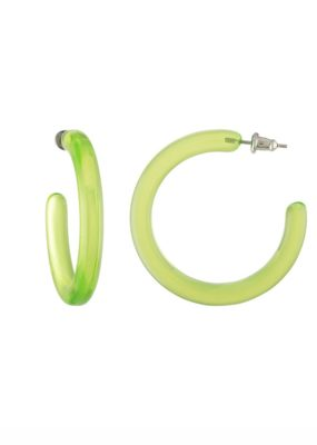 Midi Hoops in Lime