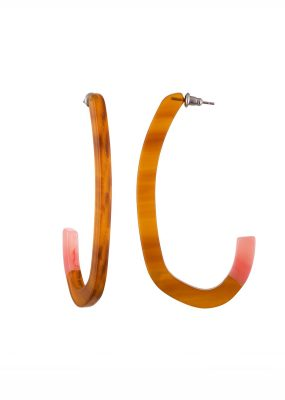 Margot Low Hoops in Cognac