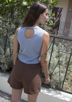 Cropped Top – Light blue