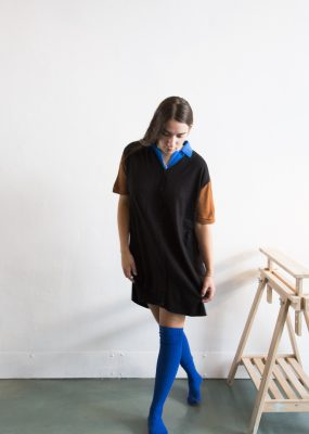 RocketXLunch knit dress – Blue collar