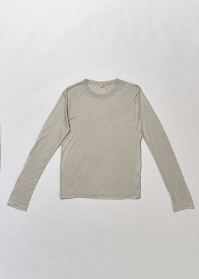 Long Sleeve tee – Bamboo Jersey – Ya grey