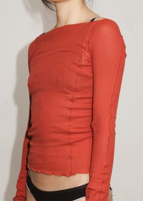 Omato Long Sleeve – Cotton Rib/ Cherry Red