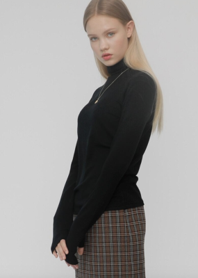 RocketxLunch Black Turtleneck