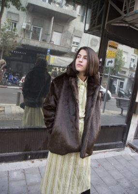 Curetty Eco fur coat