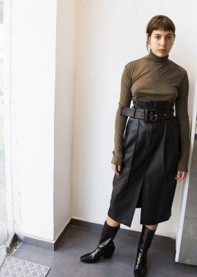 Eco leather skirt – RocketxLunch