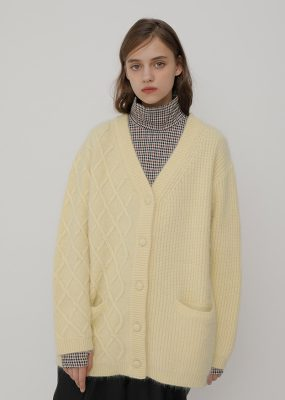 Mixed cable cardigan – RocketxLunch