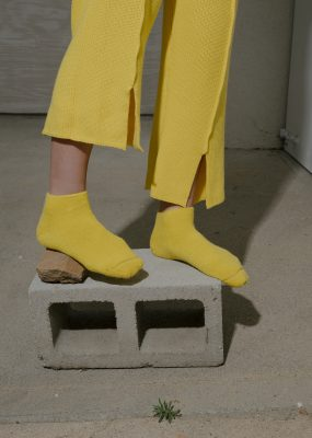 Buckle Ankle Socks – Longstaple Cotton / Giallo