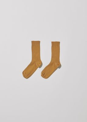Rib Ankle Socks – Cotton Rib / Okra