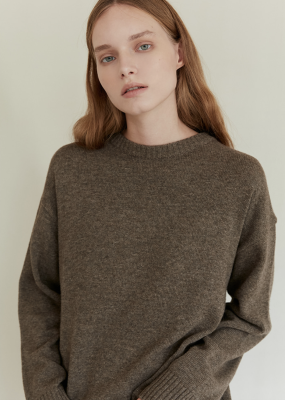 Oversized Pullover (Brown) – Among / Pre Order