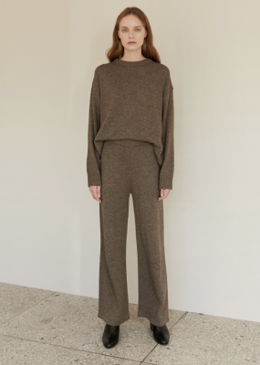 Oversized Knit pants (Brown) – AMONG