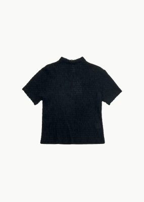 AMOMENTO WRINKLE TOP – Black