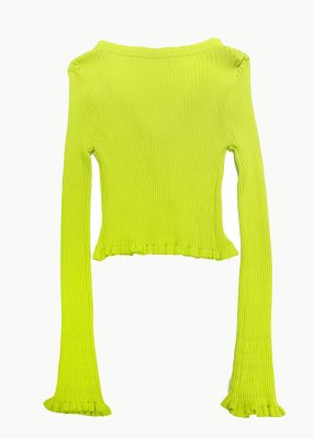 Curetty Cardigan – Yellowish green