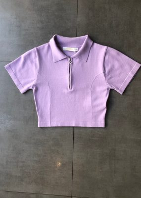 Curetty knitted polo top