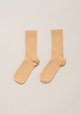 RIB ANKLE SOCKS – Raw white
