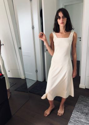 Segye Rib Dress – Cream