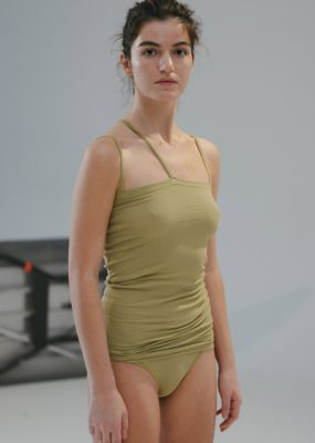 Nida Tank – Cotton Rib / topa-green