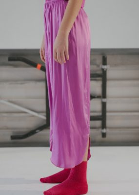 Cross Pants – Silk Satin / rebel-pink