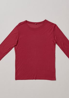 Long Sleeve Tee – Bamboo Jersey / Red