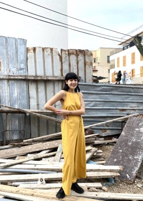 OTAY JUMPSUIT – Raw Silk / Gold