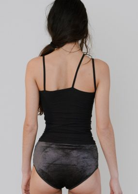 Nida Tank – Cotton Rib / Black