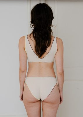 Pam Bra – Cotton Rib / Off White – contrast