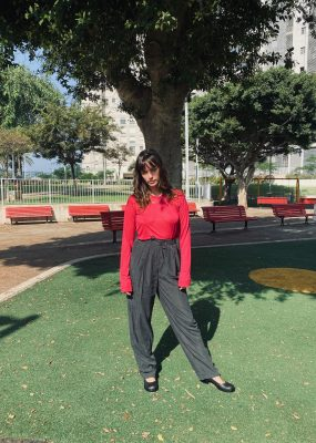 AMOMENTO CUPRO WIDE PANTS