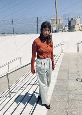 AMOMENTO DRAWSTRING WIDE PANTS