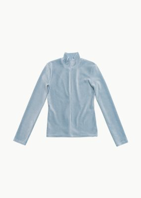 AMOMENTO VELOUR TOP – LIGHT BLUE