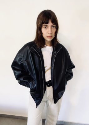 AMOMENTO Vegan Leather Blouson