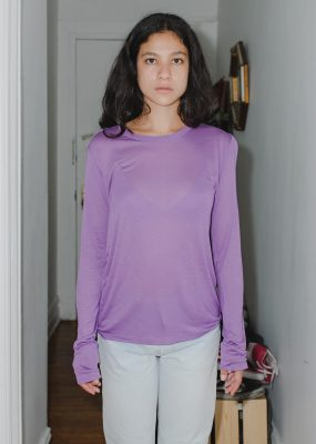 Long Sleeve Tee – Bamboo Jersey / Purple