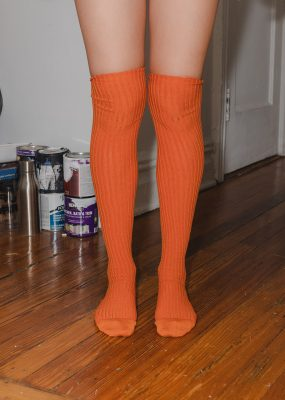 Overknee Socks – Cotton Rib/ Orange
