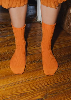 RIB ANKLE SOCKS – Orange