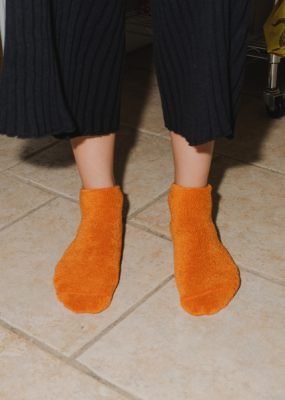 Buckle Ankle Socks – Orange