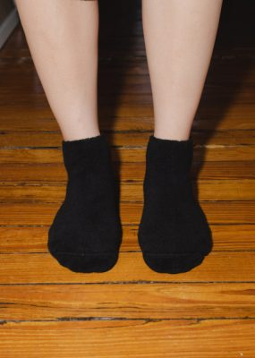 Buckle Ankle Socks – Black
