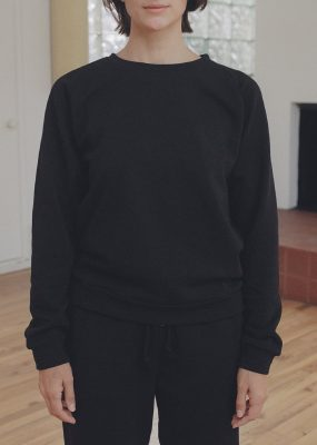 LOOSE SWEATSHIRT in BLACK – Italian Fleece