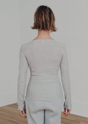 Omato Long Sleeve in Grey Melange (Pre order)
