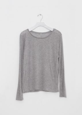 Long Sleeve Tee – Bamboo Jersey / Grey melange