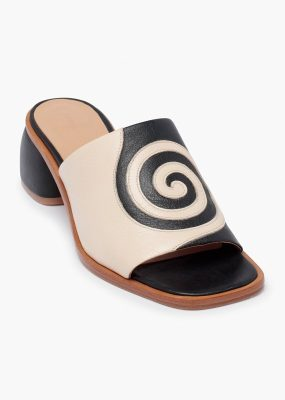 Tornado Leather slip-on sandals